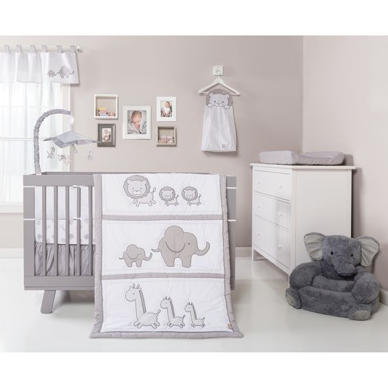 Trend Lab Safari Chevron 3-piece Crib Bedding Set | Overstock.com Shopping - The Best Deals on Bedding Sets