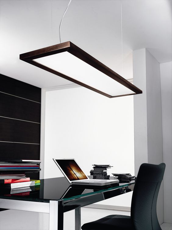 Linea Light Girevole Two Light Pendant Meeting room?