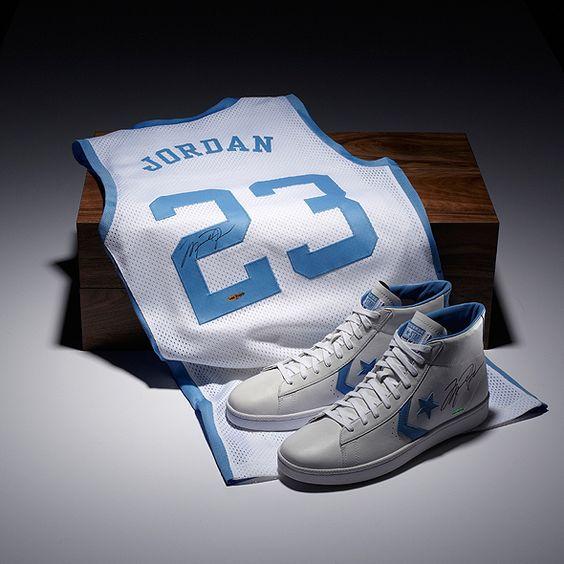 Michael Jordan Autographed Converse Shoes