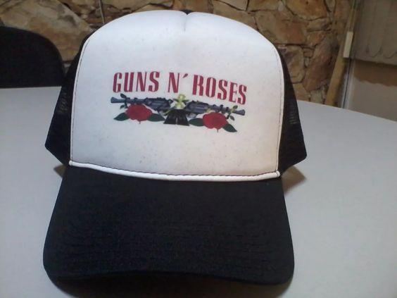 Boné Guns N Roses 1992 Trucker Snapback - R$ 29,99 em Mercado Livre