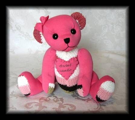 Memory Bears Think Pink Pinterest Memory Bears