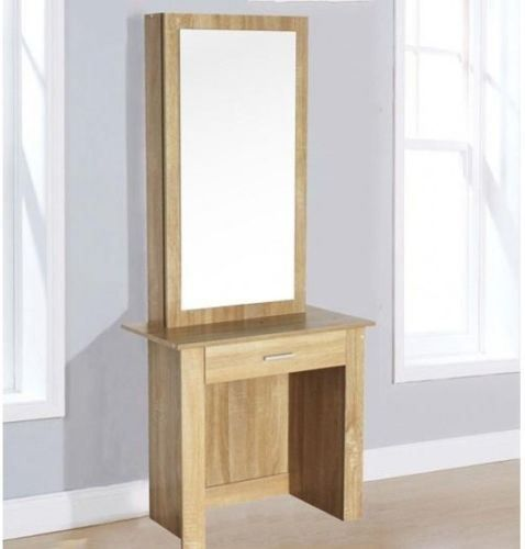 WestWood Dressing Table Modern Wooden Makeup Table With Sliding Mirror DT04
