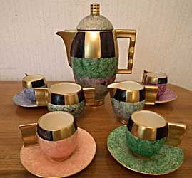 Moderne coffee set.