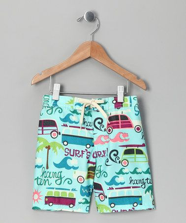 Take a look at this Blue Surf Vacation Swim Trunks - Toddler by Vroom Vroom on #zulily today!