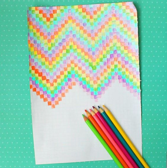 Easy graph paper art for kids for kids paper art and for Chart paper craft work