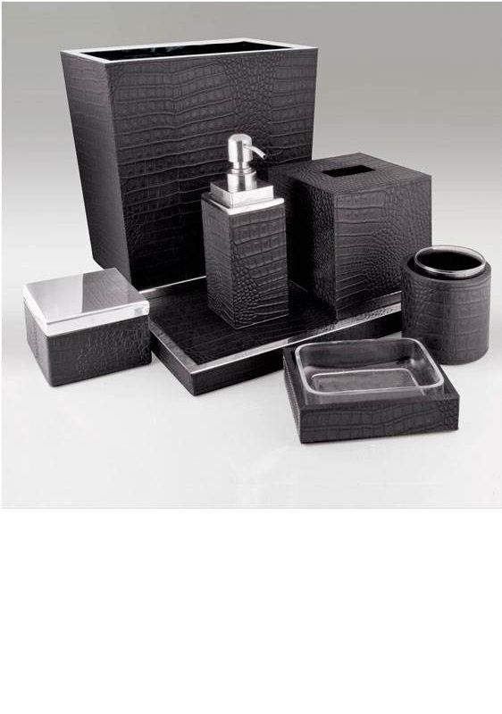 Instyle bathroom sets accessories for luxury for Black bathroom ensembles