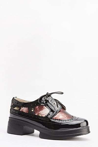 Floral Contrast Brogue Shoes for £5 @ Everything5pounds.com
