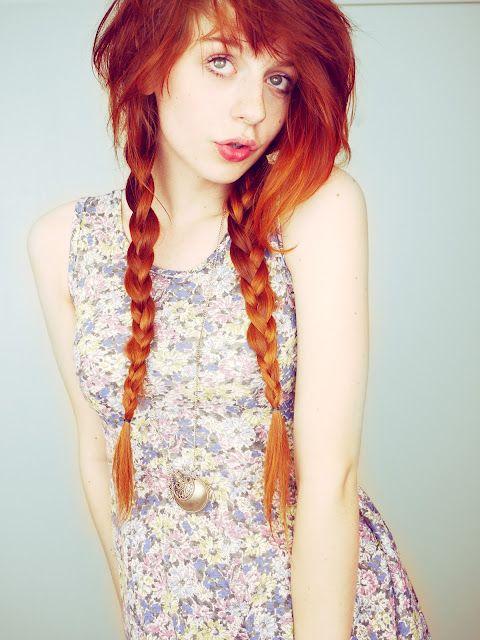 Beautiful red hair.