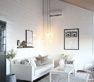 Déco salon blanc ambiance sereine avec du bois