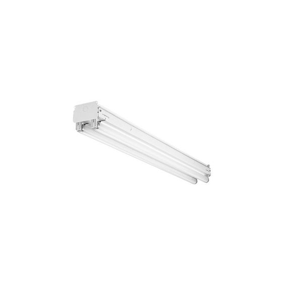 "Lithonia Lighting UN296HO 96"" 2 Light 220 Watt Electronic Rapid Start Heavy Duty White Commercial Lighting Ceiling Lights Strip Lights"