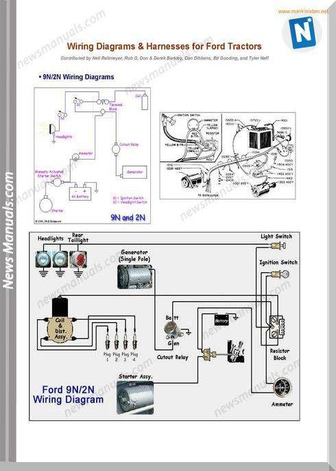 Ford Tractors Wiring Diagrams Sec Wat Ford Tractors Tractors Diagram
