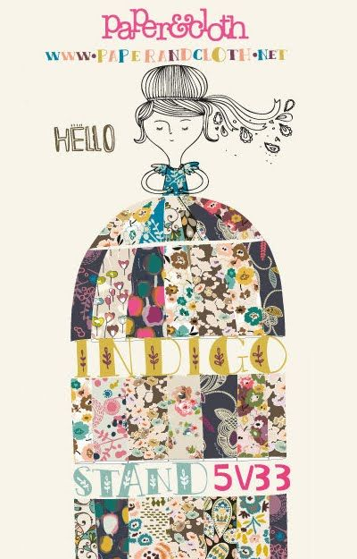i love the design of this flyer from paper & cloth who will be at indigo paris next week.