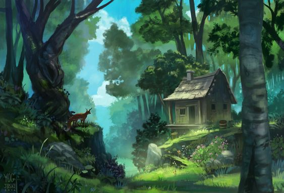 ArtStation - Shack in the woods, Yog Joshi