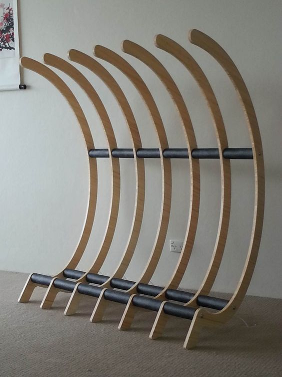 Freestanding surfboard / bike rack - Surfing Shortboards - Seabreeze Forums: