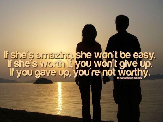 She's not, I won't, NEVER...
