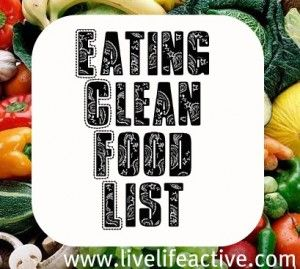 Eating Clean Food List