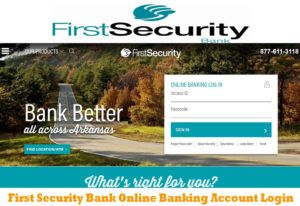 First Security Bank First Security Bank Online Banking Account Login Online Banking Banking Online