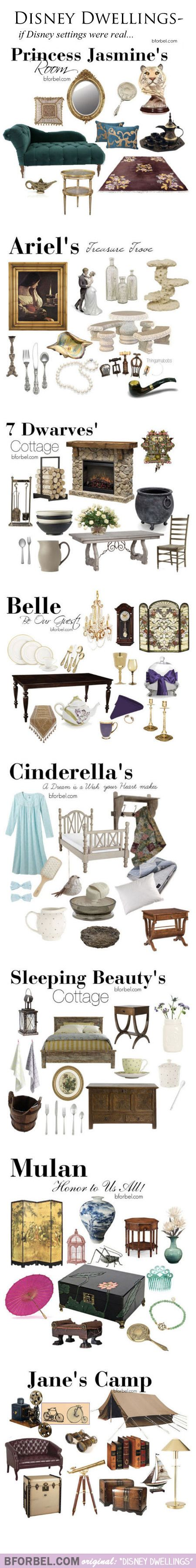 Disney Dwellings: decorating like Disney, by BforBel.com #RealityToDreams #Disney: