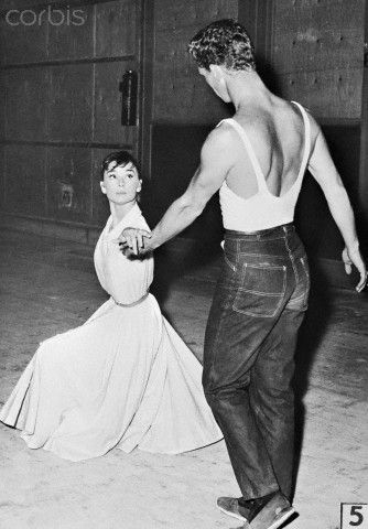 Audrey Hepburn dancing with Don Little