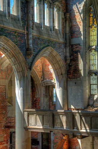 Abandoned City Methodist Church, Gary, Indiana by Timothy Neesam (GumshoePhotos), via Flickr.  I wonder if it looked this beautiful before it was abandoned.