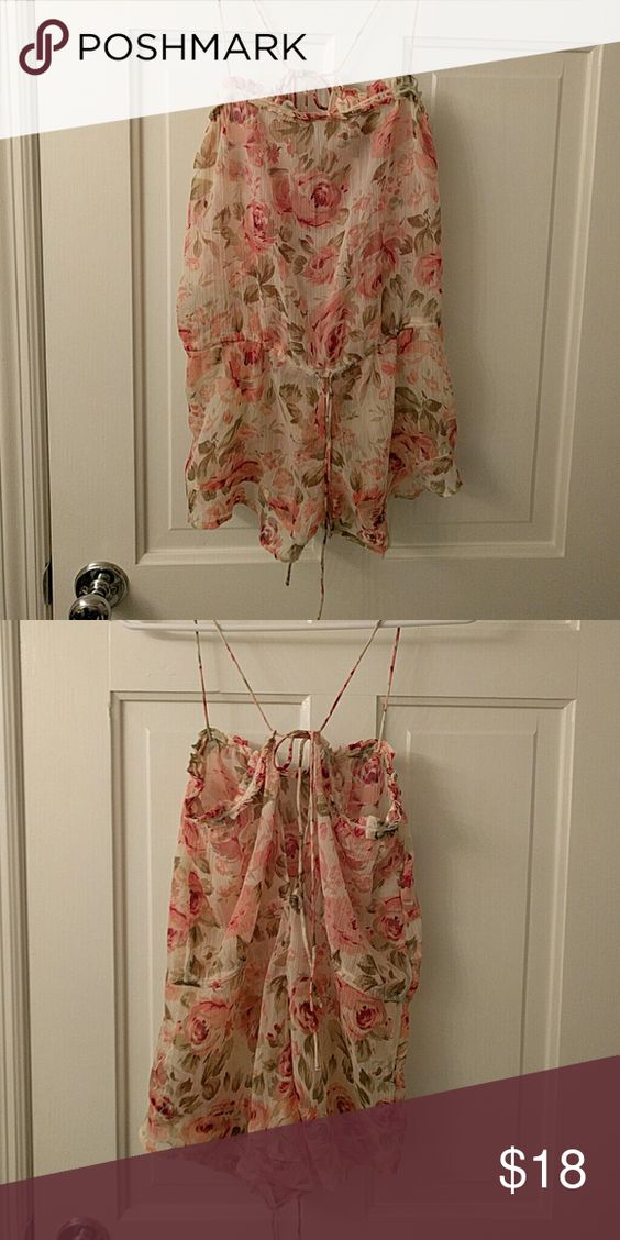 Urban outfitters romantic romper Sheer chiffon Urban Outfitters Intimates & Sleepwear Chemises & Slips