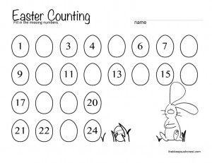 easter counting worksheet captain adorable pinterest kid addition worksheets and math. Black Bedroom Furniture Sets. Home Design Ideas