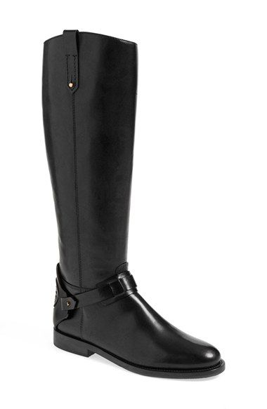 "Women's Tory Burch 'Derby' Leather Riding Boot, 1"" heel 