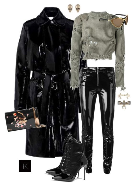 """Untitled #3965"" by kimberlythestylist ❤ liked on Polyvore featuring Carven, adidas Originals, Alyx, Giuseppe Zanotti, Givenchy and Moschino"