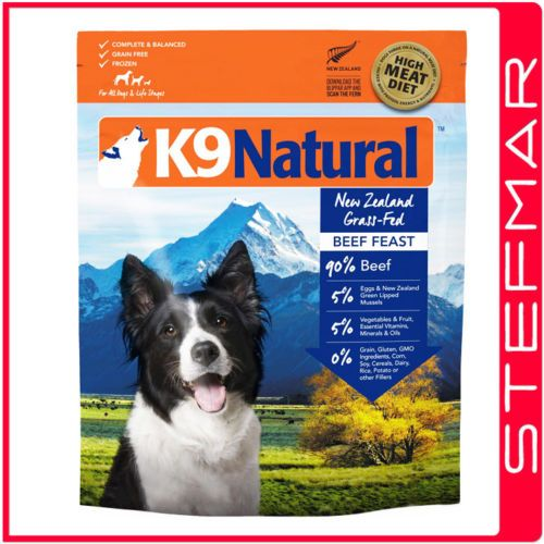 K9 Natural Freeze Dried Beef Feast Adult Dog Food 3 6kg Ebay