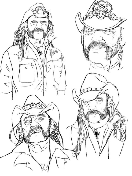 Some sketches that I did of Lemmy @myMotorhead a while back. I should finish one of these. #Aceofspades