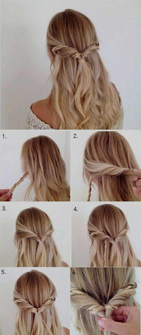 10 Easy Yet Stylish Hairstyles For Lazy Girls Bafbouf Simple Prom Hair Hair Styles Long Hair Styles