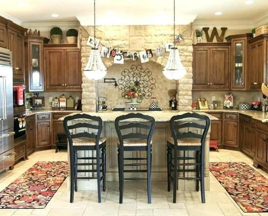 Rustic Kitchen, Is Decorating Above Kitchen Cabinets Out Of Style