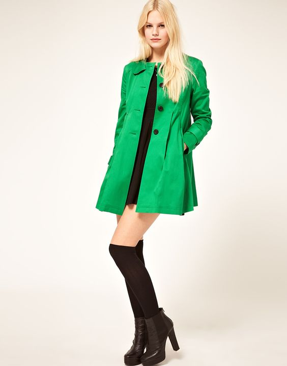 ASOS Pleated Swing Trench