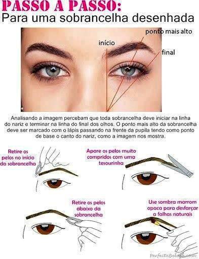 Aprenda o modo certo de tirar sobrancelhas !!