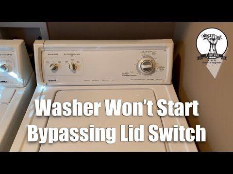 Washing Machine Won T Spin Lid Switch Bypass Youtube Washing Machine Switch Lidded