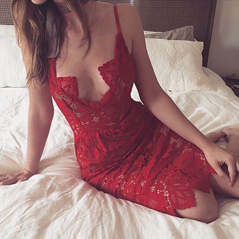 Sultry in Red #AmoreMia  Shop the Gianna Dress with link in bio | #ForLoveandLemons #Spring16