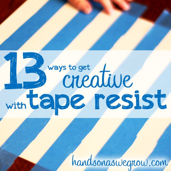 Fun ideas for tape resist art projects!