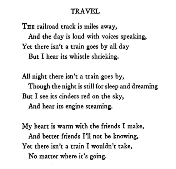Poems About Traveling The World