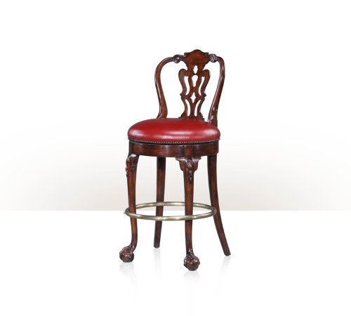 A swivel bar chair