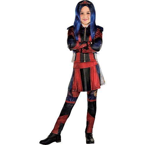 Disguise Mal Isle Descendants Deluxe Disney Childs Girls Halloween Costume 24126
