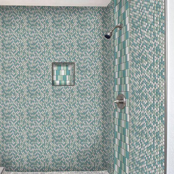 Renew Bathroom Tiles: American Olean Renewal™ Sea Pearl 3 In . Block Glass