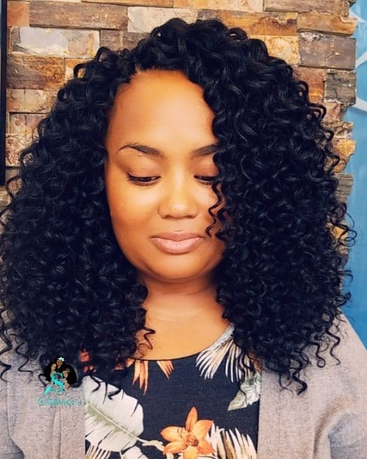 Crochet Install Beach Curl By Shakengo Hair Click Link In Bio To Book Your Appointment Curly Crochet Hair Styles Natural Hair Styles Braided Prom Hair