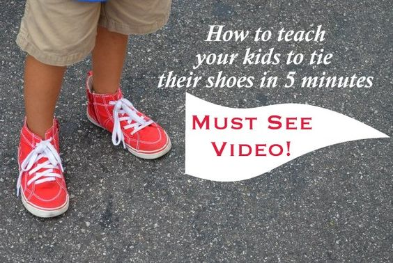 teach your to tie their shoes in 5 minutes