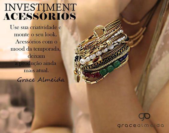 """Look off-white """"PRECISA"""" de acessórios de efeito!! www.gracealmeida.com.br/blog"""