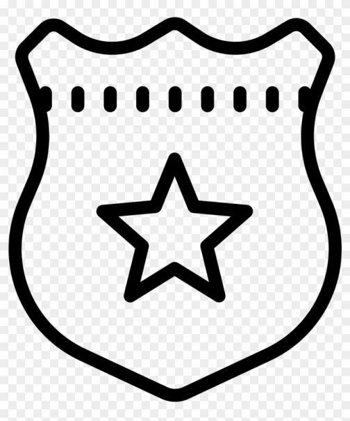 10 Cop Icon Transparent Png White Badge Icon Icon Png