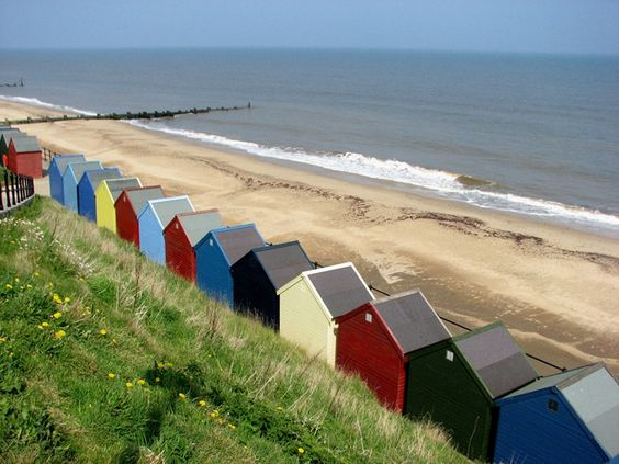 Mundesley beach, Norfolk Used to have summer holidays here!: