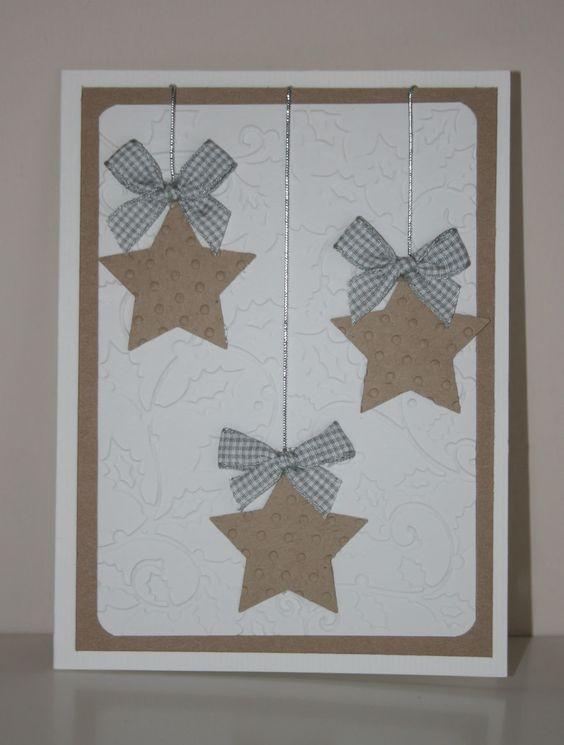 Tarjeta de navidad con estrellas: