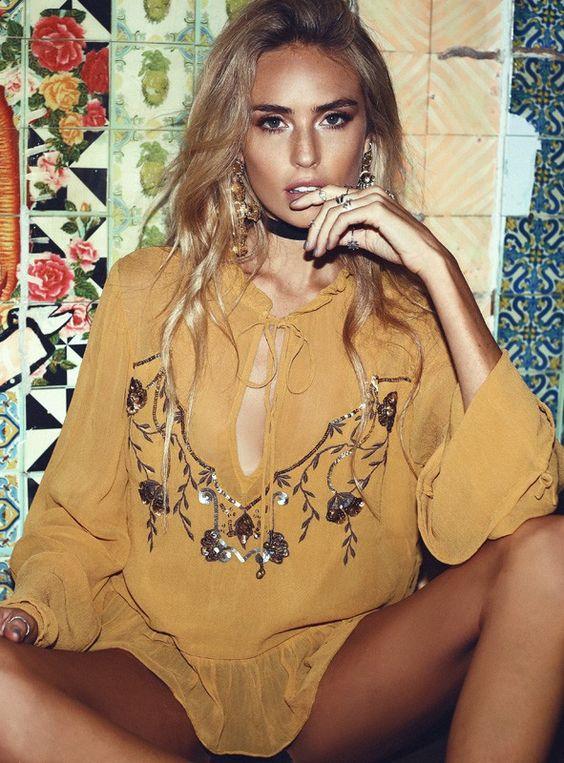 Somedays Lovin Marigold Embellished Blouse