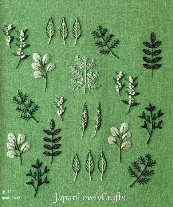 Pflanzen & Blume Stickmuster, natürlichen Zakka Stil Motive, Japanisches Handwerk Buch, Hand-Stickerei Blumen, Wald, Vogeldesign, B1874