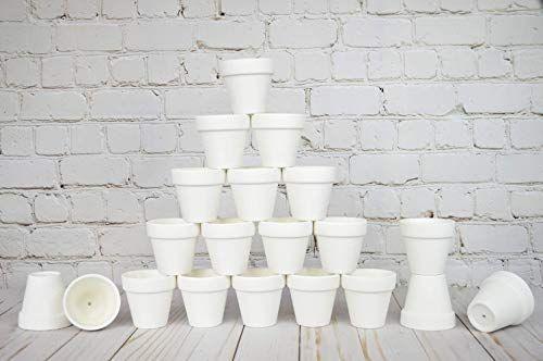 Amazon Com My Urban Crafts 20 Pcs 2 Small Mini Terra Cotta Clay Pots Ceramic Pottery Planters Cactus Terra Cotta Clay Pots Pottery Planters Flower Nursery